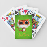 Little Cute Tiger Bicycle Playing Cards