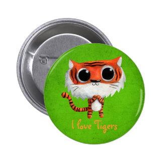 Little Cute Tiger Buttons