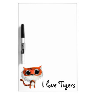 Little Cute Tiger Dry Erase Whiteboards