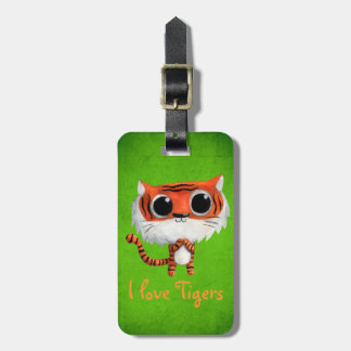 Little Cute Tiger Tag For Bags