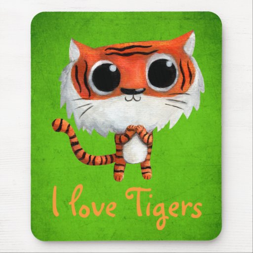 Little Cute Tiger Mouse Pads