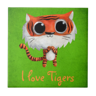 Little Cute Tiger Ceramic Tiles