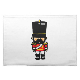 little cute toy soldier with mustache placemat