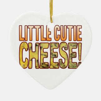 Little Cutie Blue Cheese Ceramic Ornament