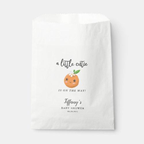 Little Cutie Girl Baby Shower Floral Favor Bag