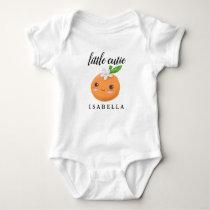 Little Cutie Sweet Orange Fruit Girl Baby Bodysuit
