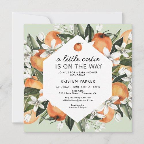 Little Cutie Theme Gender Neutral Baby Shower Invitation