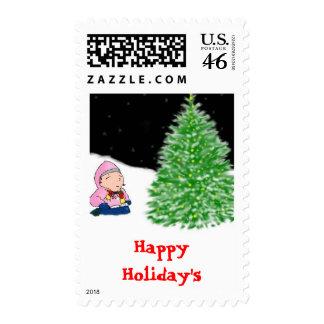 Little Cyndi Postage Stamps