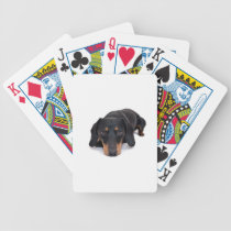 Little Dachshund Bicycle Playing Cards