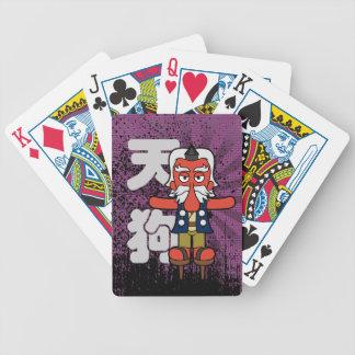 Little Daitengu Yokai Grunge Bicycle Playing Cards