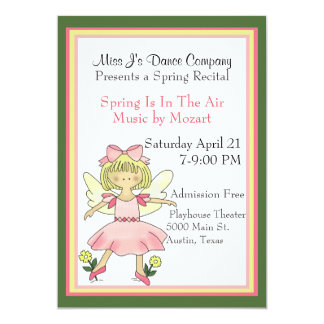 Little Dancer Dance Recital Invitation