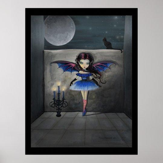 Little Dancer Gothic Vampire Fairy Poster