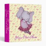 Little Dancing Ballerina Elephant Binder
