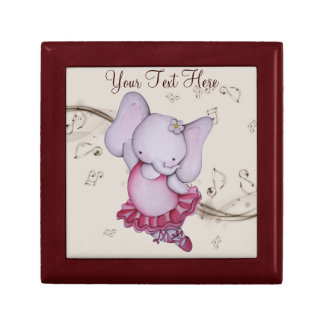 Little Dancing Ballerina Elephant Gift Box