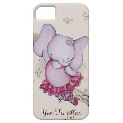 Little Dancing Ballerina Elephant iPhone 5 Case