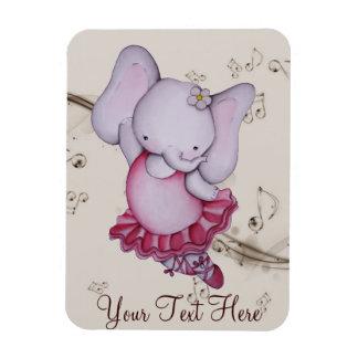 Little Dancing Ballerina Elephant Magnet