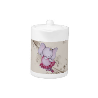 Little Dancing Ballerina Elephant Teapot