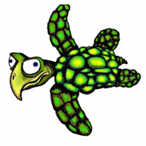 """Little Dave"" Turtle, Fish with Attitude Cutout"