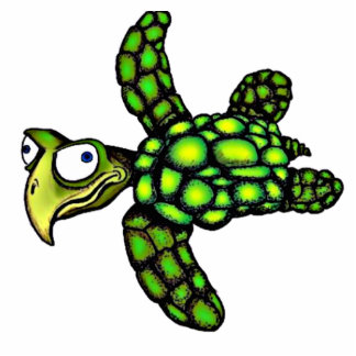 """""""Little Dave"""" Turtle, Fish with Attitude Cutout"""