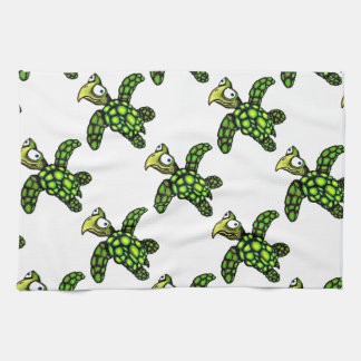 """""""Little Dave"""" Turtle, Fish with Attitude Kitchen Towel"""