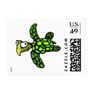 """Little Dave"" Turtle, Fish with Attitude Postage"