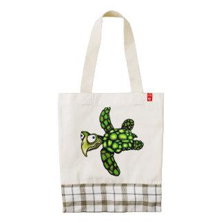 """""""Little Dave"""" Turtle, Fish with Attitude Zazzle HEART Tote Bag"""