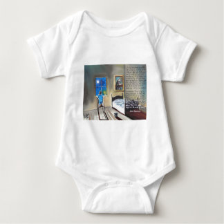 Little David Copperfield Dickens painting Baby Bodysuit