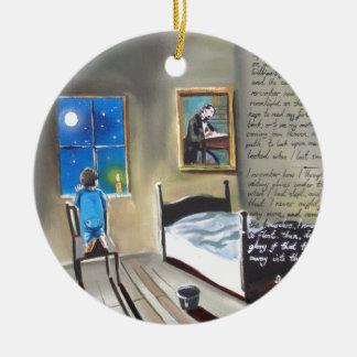 Little David Copperfield Dickens painting Double-Sided Ceramic Round Christmas Ornament
