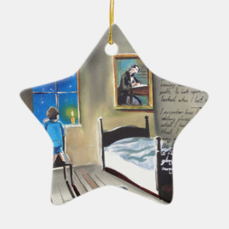 Little David Copperfield Dickens painting Double-Sided Star Ceramic Christmas Ornament