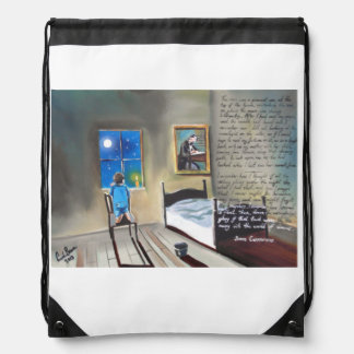 Little David Copperfield Dickens painting Drawstring Backpack