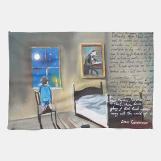 Little David Copperfield Dickens painting Kitchen Towels