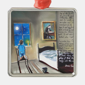 Little David Copperfield Dickens painting Metal Ornament