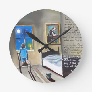 Little David Copperfield Dickens painting Round Clock