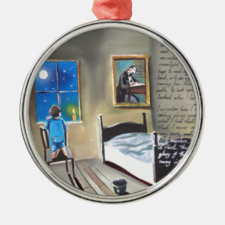 Little David Copperfield Dickens painting Round Metal Christmas Ornament