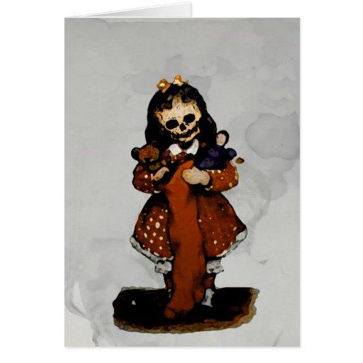 Little Dead Girl Christmas Card