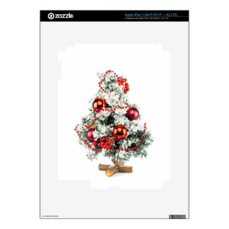 Little decorated christmas tree with baubles decal for iPad 3