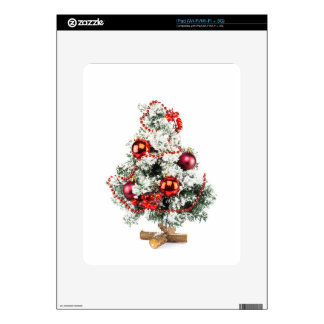 Little decorated christmas tree with baubles skin for iPad
