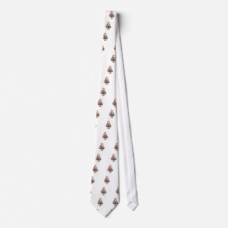 Little decorated christmas tree with baubles tie