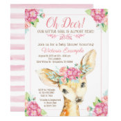 Little Deer Baby Girl Shower Invitations