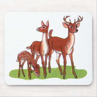 Little Deer Family Mouse Pad