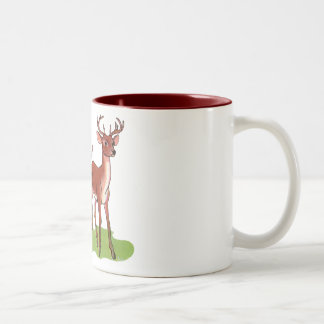 Little Deer Family Two-Tone Coffee Mug