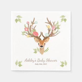 Little Deer Paper Napkin woodland Antlers Shower