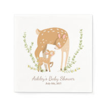 Little Deer Paper Napkin woodland Baby Shower