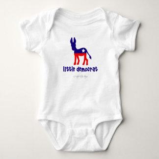 Little Democrat Short Sleeve Baby One-Piece Baby Bodysuit