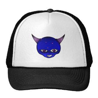 Little Devil Cartoon Head Face Horns Graphic Ympe Trucker Hat
