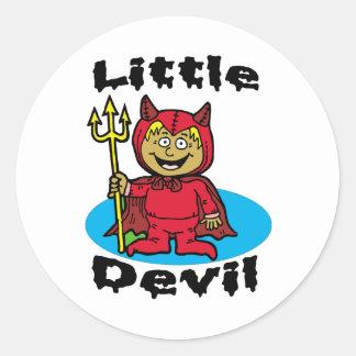 Little Devil Classic Round Sticker