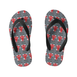 Little Devil - Custom Flip Flops, Kids Kid's Flip Flops