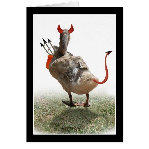 Little Devil Duck Greeting Card