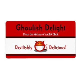 Little Devil Halloween Baking Labels