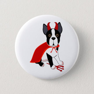 Little Devil Halloween Dog Button